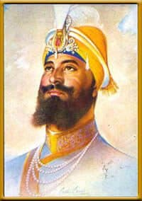 Portrait of Guru Gobind Singh ji as painted by Bhai Sobha Singh