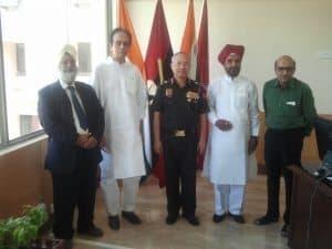 Divine gathering with Lt General KH Singh