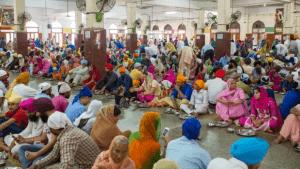 Guru ka Langar (Hall of enjoying free tasty hot food) Over 1.5 lacs pilgrims enjoy it daily