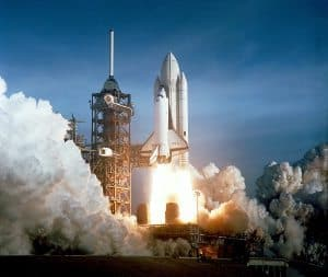 First launch of spaceshuttle