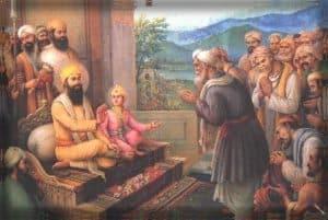 Kashmiri pundits meeting Guru TeghBahadur ji