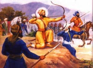 Guru Gobind Singh ji in Battle