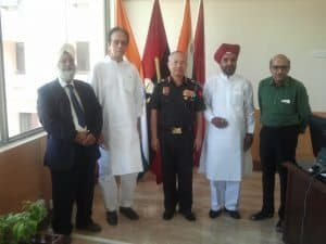 Divine gathering with Lt General KH Singh