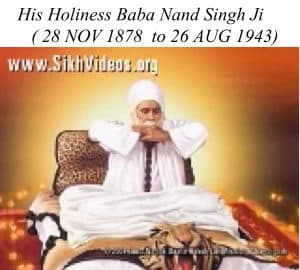 His Holiness Baba Nand Singh Ji